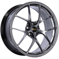 BBS RI-D 20x8.5 5x112 ET50 Diamond Black Wheel -82mm PFS/Clip Required