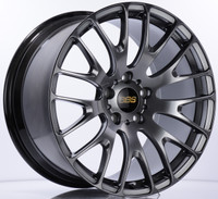 BBS RN 20x8.5 5x120 ET30 Diamond Black Wheel -82mm PFS/Clip Required