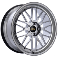 BBS LM 20x9.5 5x114.3 ET40 CB66 Diamond Silver Center Diamond Cut Lip Wheel