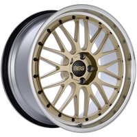 BBS LM 20x9.5 5x114.3 ET40 CB66 Gold Center Diamond Cut Lip Wheel