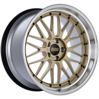 BBS LM 20x10.5 5x114.3 ET20 CB66 Gold Center Diamond Cut Lip Wheel