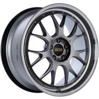 BBS LM-R 20x9.5 5x114.3 ET40 CB66 Diamond Black Center Diamond Cut Lip Wheel