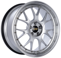 BBS LM-R 20x9.5 5x114.3 ET40 CB66 Diamond Silver Center Diamond Cut Lip Wheel