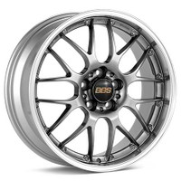 BBS RS-GT 20x8.5 5x114.3 ET43 Diamond Black Center Diamond Cut Lip Wheel -82mm PFS/Clip Required