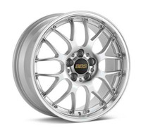 BBS RS-GT 20x8.5 5x114.3 ET43 Diamond Silver Center Diamond Cut Lip Wheel -82mm PFS/Clip Required