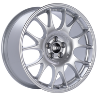 BBS CH 18x8.5 5x100 ET30 Diamond Silver Wheel -70mm PFS/Clip Required
