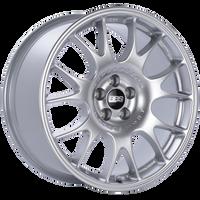 BBS CH 18x8.5 5x100 ET30 Diamond Silver Wheel -70mm PFS/Clip Required