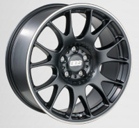 BBS CH 18x8 5x114.3 ET38 Satin Black Polished Rim Protector Wheel -82mm PFS/Clip Required