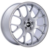 BBS CH-R 18x8 5x100 ET38 Brilliant Silver Polished Rim Protector Wheel -70mm PFS/Clip Required