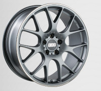 BBS CH-R 19x8 5x114.3 ET38 Satin Titanium Polished Rim Protector Wheel -82mm PFS/Clip Required