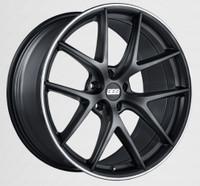 BBS CI-R 19x8 5x114.3 ET38 Satin Black Polished Rim Protector Wheel -82mm PFS/Clip Required