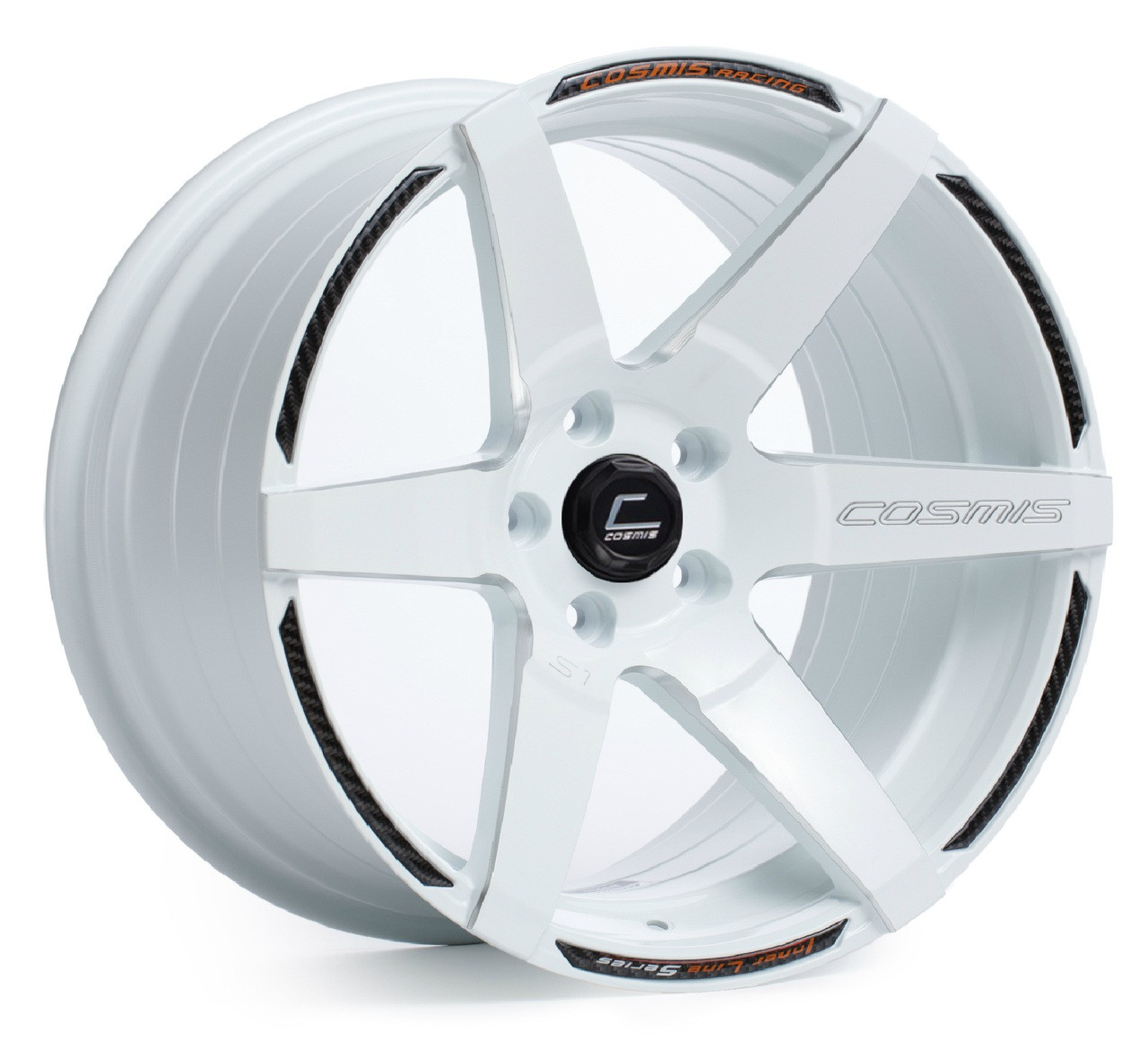 Cosmis Racing S1 Wheel in White with Milled Spokes