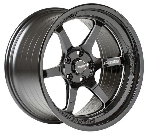 Black with Milled Spokes Cosmis Racing XT-006R Wheel