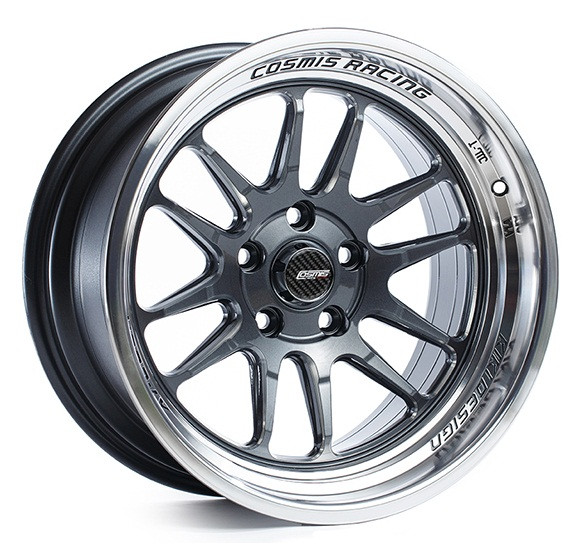 Cosmis Racing XT-206R Wheel in Gun Metal with Machined Lip and Spokes