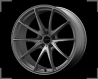 Volk Racing G25 EDGE Wheel - 20X12.0 +25 5x114.3 TITANIUM SILVER / SPOKE DC