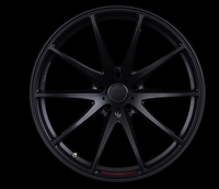 Volk Racing G25 EDGE Wheel - 20X10.5 +24 5x114.3 PRESSED MATTE BLACK / SPOKE DC