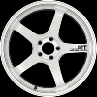 Advan GT Wheel - 18X12.0 +27 5x114.3 RACING WHITE