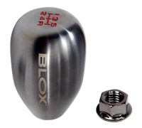 Blox Racing 6-Speed Billet Shift Knob - Gun Metal, 12x1.25mm