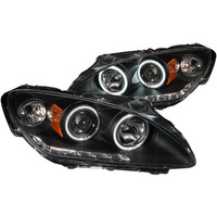 ANZO 2000-2003 Honda S2000 Projector Headlights w/ Halo Black (CCFL)