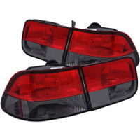 ANZO 1996-2000 Honda Civic Taillights Red/Smoke