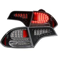ANZO 2006-2011 Honda Civic LED Taillights Black (4 Door)