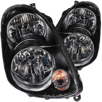 ANZO 2003-2004 Infiniti G35 Crystal Headlights Black - 4 Door