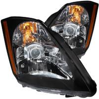 ANZO 2003-2005 Nissan 350Z Crystal Headlights Black