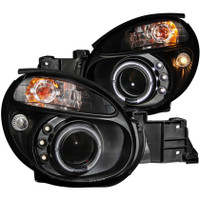 ANZO 2002-2003 Subaru Impreza Projector Headlights w/ Halo Black