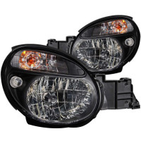 ANZO 2002-2003 Subaru Impreza Crystal Headlights Black