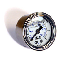 Blox Racing Liquid-Filled Fuel Pressure Gauge Kit (w/ banjo bolt adapter)