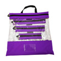 Purple Clear Organizing Bag