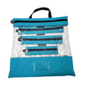 Turquoise Clear Organizing Bag