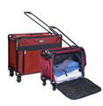 """24"""" Red Small Pullman + 20"""" Red Regulation carry on suiter"""