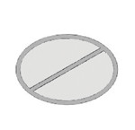OVAL/HALF Bowl & Tray Template