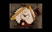 WOODWORKER CLOCK INTARSIA PATTERN