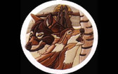 WOLVES INTARSIA PATTERN