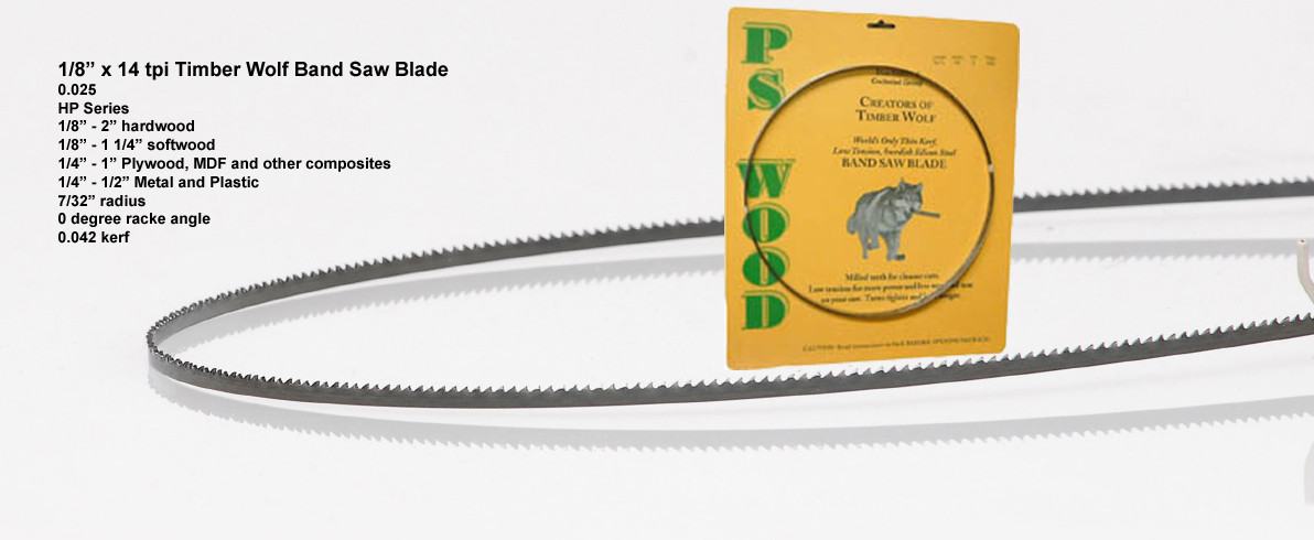 """PS WOOD Timber Wolf Band Saw Blade 101/"""" L 1//2/"""" W 4 TPI .025 THICK ^"""