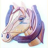 LUCKY HORSE CLOCK INTARSIA PATTERN