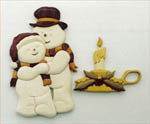 CANDLE & SNOWMAN INTARSIA PATTERN