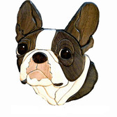 BOSTON TERRIER HEAD Intarsia Pattern