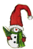SNOWMAN IN SANTA HAT PATTERN