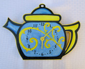 TEA KETTLE HANG UP CLOCK PATTERN