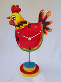ROOSTER CLOCK ON PEDESTAL PATTERN