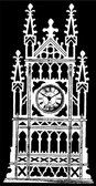GOTHIC SHELF CLOCK PATTERN