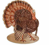WILD TURKEY INTARSIA PATTERN