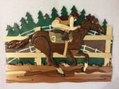 RACE HORSE Intarsia Pattern