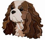 CAVALIER KING CHARLES SPANIEL INTARSIA PATTERN