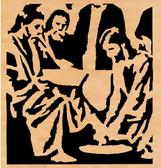 JESUS WASHING FEET PATTERN