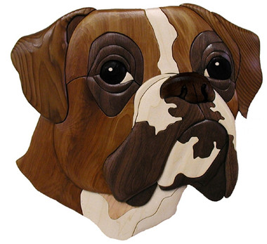 BOXER HEAD INTARSIA PATTERN PS Wood Machines Awesome Intarsia Patterns