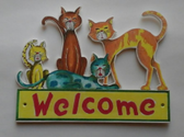WELCOME CATS PATTERN